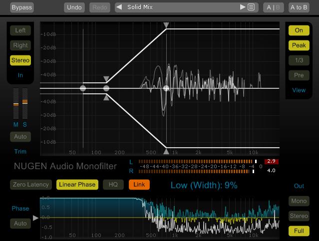 پلاگین کنترل ایمیج ناحیه بیس NuGen Audio Monofilter