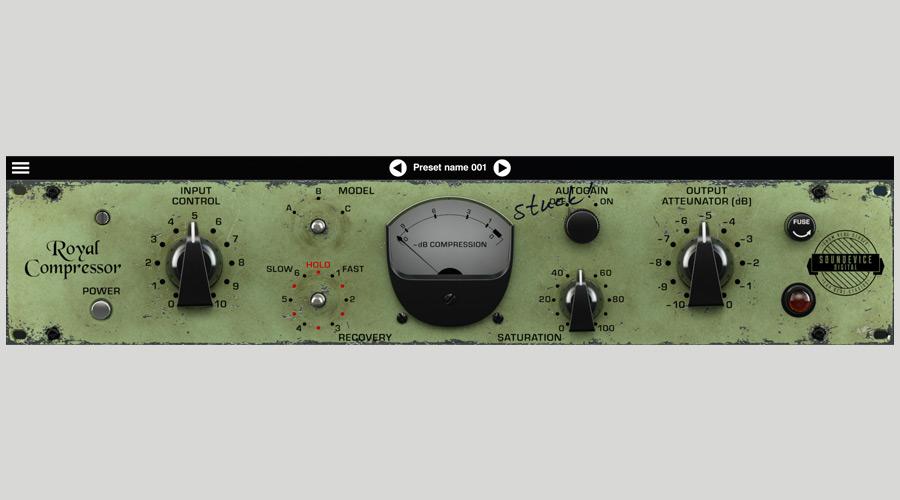 دانلود وی اس تی پلاگین کامپرسور Soundevice Digital Royal Compressor