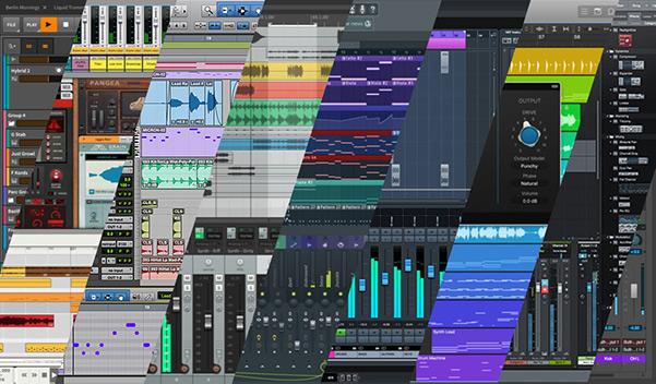 نرمافزارهای میزبان آهنگسازی (DAW) مانند FL studio, Abletone, Cubase Pro tools logic Pro