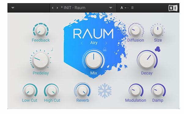 پلاگین Native instruments RAUM برای ریورب استفاده میشود