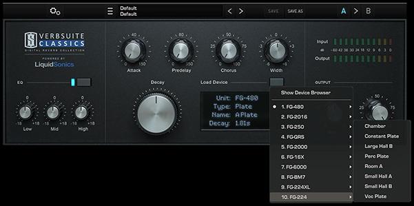 پلاگین Slate Digital VerbSuite Classics برای ریورب آهنگ سازی استفاده میشود