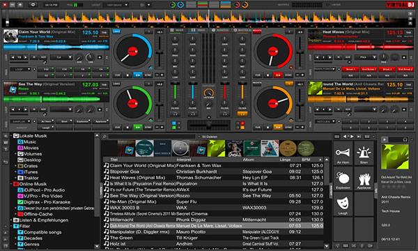 نرم افزار Virtual Dj یک نرم افزار ریمیکس آهنگ و موسیقی برای دی جی ها است