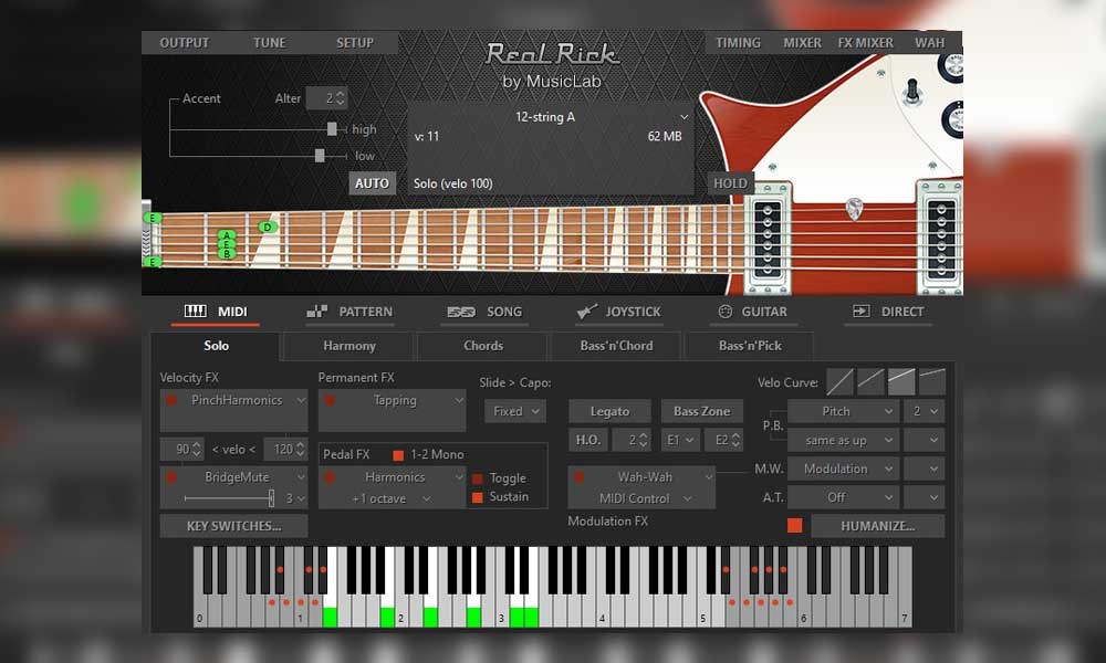 دانلود پلاگین گیتار الکتریک MusicLab RealRick