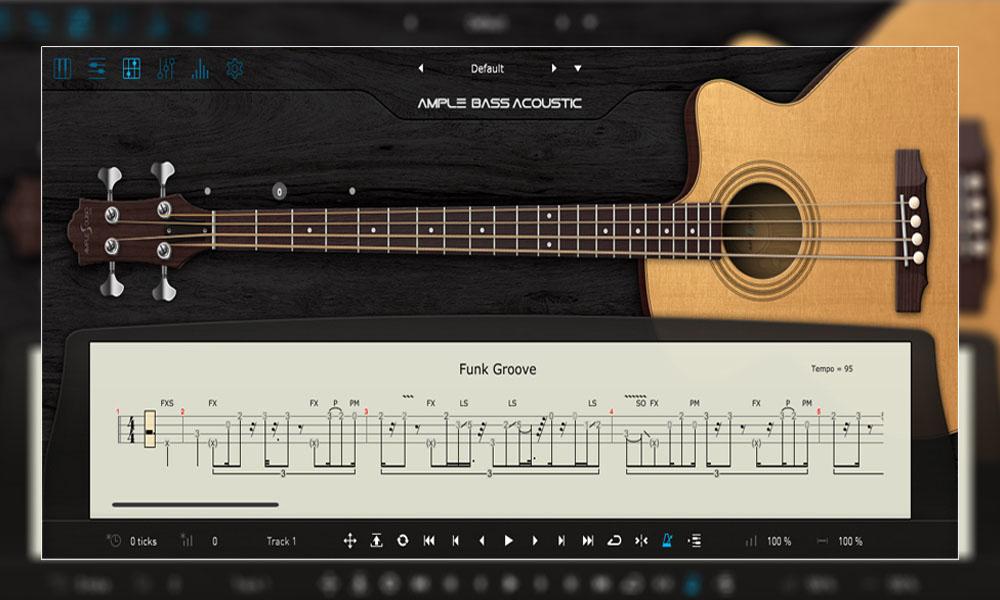 وی اس تی گیتار بیس آکوستیک Ample Sound Ample Bass Acoustic