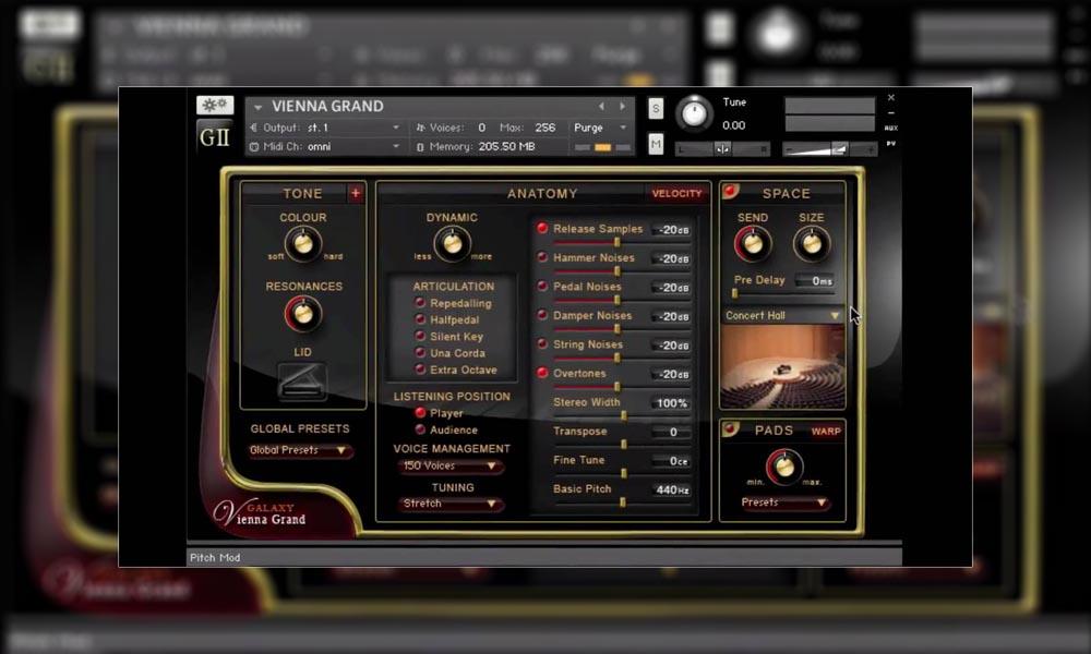 بانک صدا پیانو کانتکت Best Service Galaxy II Grand Piano