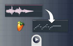 تبدیل فایل صوتی به میدی (Midi) در اف ال استودیو